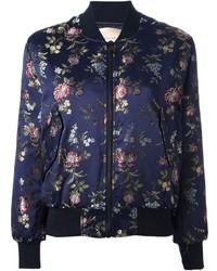 Erika semi couture floral jacquard bomber jacket medium 118532