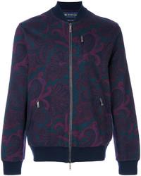 Etro Floral Zip Bomber Jacket