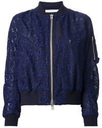 Luck floral lace bomber jacket medium 31040