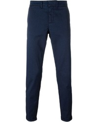 Fay Printed Chino Trousers