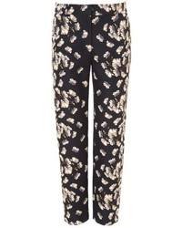 Navy floral trousers medium 96101