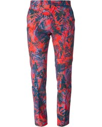Paul Smith Ps Floral Print Slim Fit Trousers