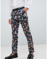 ASOS DESIGN Skinny Smart Trouser With Floral Print