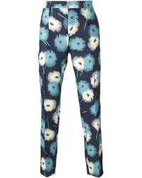 Valentino Floral Print Slim Fit Trousers