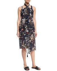 Fuzzi Floral Print Pareo Coverup One Size