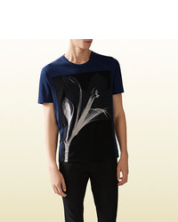 Gucci Cotton Jersey T Shirt With Floral Print
