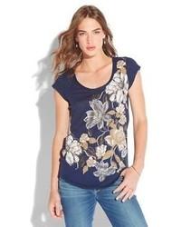 Lucky brand cascading floral tee medium 55814