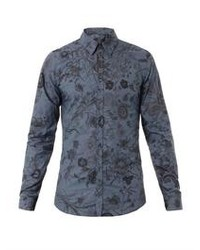83cd6af7ba8f Gucci Short Sleeve Military Duke Shirt Out of stock · Gucci Floral Print  Slim Fit Shirt