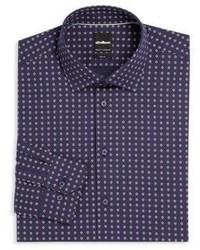 Floral slim fit dress shirt medium 598528