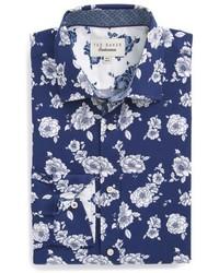 London trim fit floral dress shirt medium 4911497