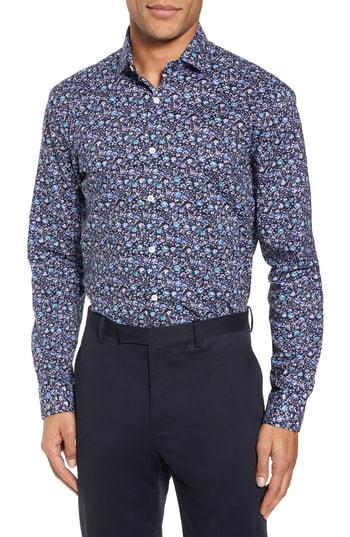c9679f56e94 Duchamp Trim Fit Floral Dress Shirt