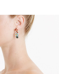 J.Crew Stacked Floral Crystal Earrings