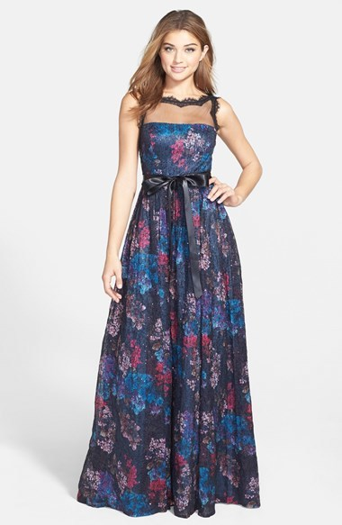 9dc3ab809e555 Adrianna Papell Sequin Print Illusion Yoke Ball Gown, $258   Nordstrom    Lookastic.com