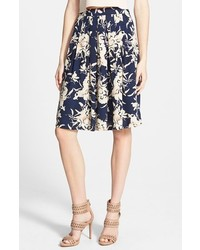 Astr Pleated Floral Skirt