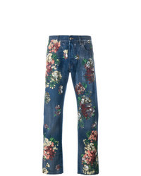 Navy Floral Jeans