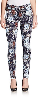 7 For All Mankind Floral Print Skinny Jeans | Where to buy & how ...