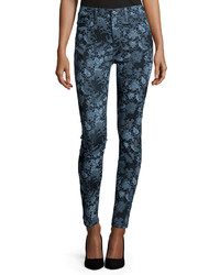 The high waist skinny jeans blue floral medium 327199