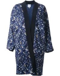 Façonnable Flower Printed Kimono Inspired Coat