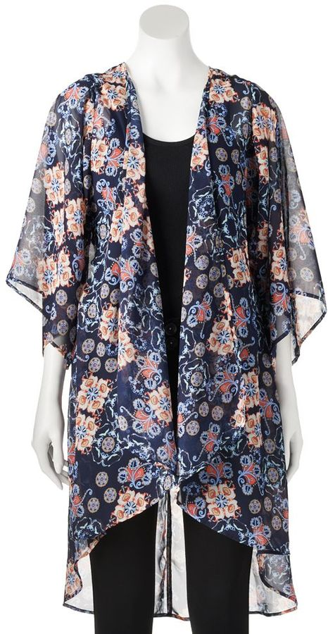 Mudd Chiffon Kimono Cardigan Juniors | Where to buy & how to wear