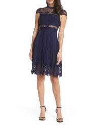 Foxiedox Bravo Zulu Lace Fit Flare Cocktail Dress