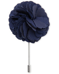 Dibi Navy Floral Lapel Pin