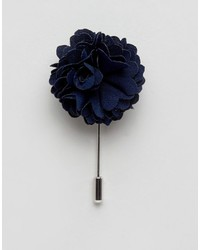 Noose Monkey Noose Monkey Flower Lapel Pin In Navy