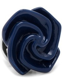 Ox And Bull Trading Co Navy Blue Flower Lapel Pin