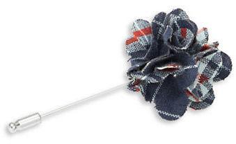 Original Penguin Plaid Floral Lapel Pin