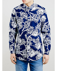 Navy Floral Long Sleeve Shirt