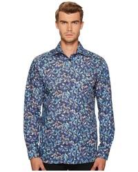 Eton Contemporary Fit Bird Print Shirt Clothing
