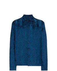 Haider Ackermann Floral Stripe Long Sleeve Shirt