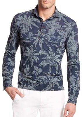 Polo Ralph Lauren Hawaiian Print Mesh Estate Long Sleeve Polo | Where to buy \u0026amp