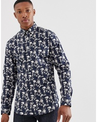 Jack & Jones Premium Slim Fit Long Sleeve Floral Printed Shirt