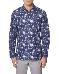 Hickey Freeman Rockefeller Floral Button Up Shirt