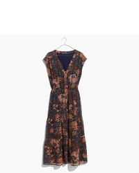 Madewell Dawnlight Maxi Dress In Sea Floral