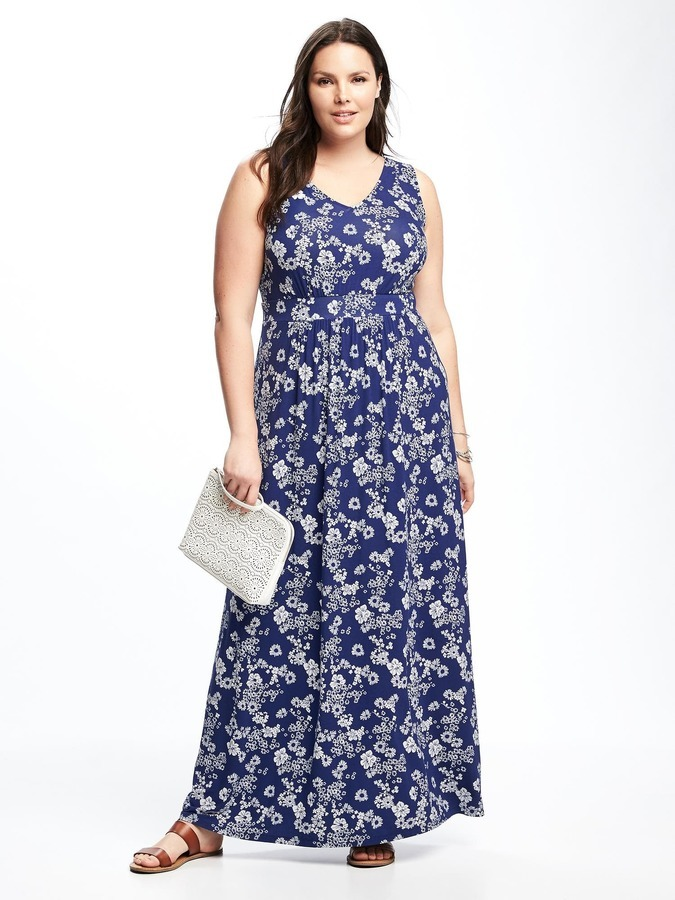 Empire Waist Plus Size Maxi Dress