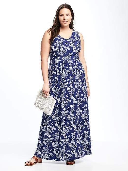 $48, Old Navy Empire Waist Plus Size Maxi Dress