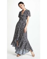 Lost wander araceli wrap maxi dress medium 7012629