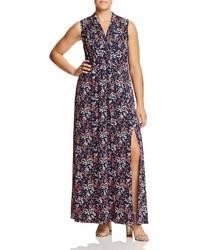 MICHAEL Michael Kors Michl Michl Kors Plus Floral Print Knit Maxi Dress