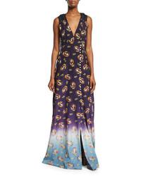 Marc Jacobs Victorian Grunge Sleeveless Maxi Dress Navy
