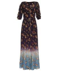 Marc Jacobs Victorian Print Crepe De Chine Dress