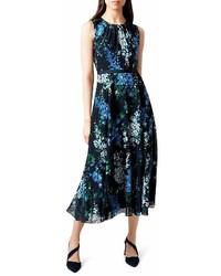 Hobbs London Brea Floral Print Midi Dress