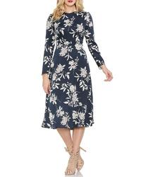 Vince Camuto Etched Bouquet Print Dress