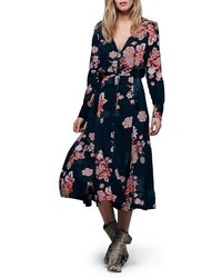 Free People Miranda Floral Print Midi Dress