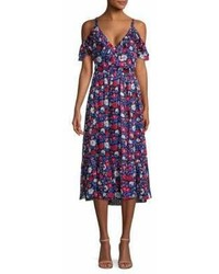 Kate Spade New York Daisy Satin Floral Midi Dress
