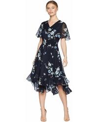 Tahari ASL Tahari By Asl Petite Flounced Midi Dress Dress