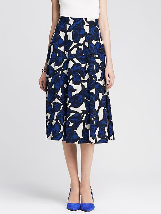 Banana Republic Floral Ponte Midi Skirt | Where to buy & how to wear