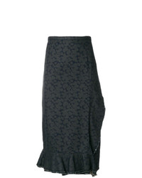 Comme Des Garçons Vintage Wrap Denim Printed Skirt