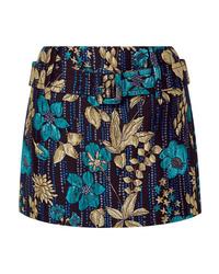 Prada Metallic Brocade Mini Skirt
