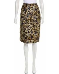 Prada Floral Brocade Skirt